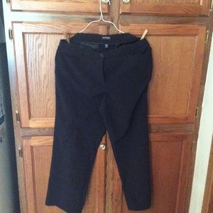 George women's dress pants black +
